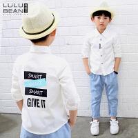 秋冬装新款韩版白色男童长袖衬衫儿童打底衫衬衣宝宝上衣