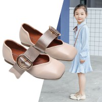 女童皮鞋秋季2019新款时尚儿童平底鞋女孩单鞋豆豆鞋小公主凉鞋潮