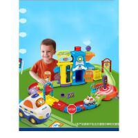 神奇轨道车玩具警察局男孩玩具警车拼装拼接轨道玩具抖音 警察局特别版(比市面普通版更多轨道) 无