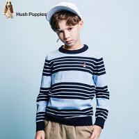 【3件3折:89.7元】暇步士童装春季新款男童线衣时尚条纹针织衫儿童线衣