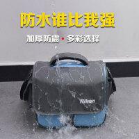 单反相机包 单肩时尚防水d5300 d3200 d750 D7200 D3400摄影 小号 蓝色