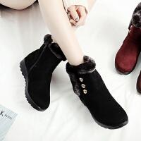 妈妈鞋 女士冬季加绒奶奶鞋2020新款女式中年女棉靴平底雪地靴妈妈鞋女鞋子