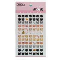 贴纸 小猫咪 可爱表情 果冻贴 立体装饰贴 小粘纸