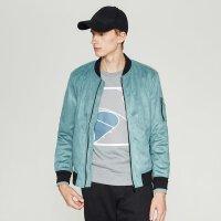 【2件2.5到手价:110】MECITY男装棒球领修身夹克外套男韩版口袋机车夹克