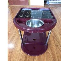 自动麻将机麻将桌茶几加厚塑料棋牌室麻将配件茶水架茶水台边几