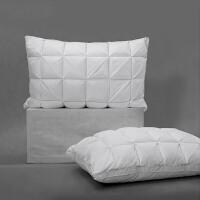水星出品 百丽丝家纺 羽丝鹅毛复合立体面包枕芯蓬松舒适居家枕头全棉面料 波希亚