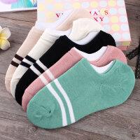 袜子女棉短袜低帮四季韩版浅口船袜纯色运动女袜可爱短筒袜