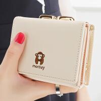 女士钱包 女 短款日韩版简约迷你学生小钱包零钱包钱夹皮夹