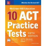 【预订】McGraw-Hill Education: 10 ACT Practice Tests, Fifth Edi