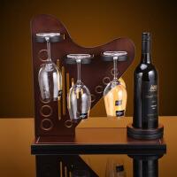 创意木质酒架红酒架倒挂酒杯架子摆件家居酒柜装饰品摆设