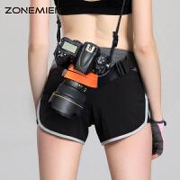 单反相机固定腰带户外摄影登山腰带 骑行腰包带摄影器材配件