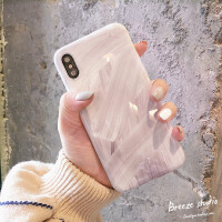iPhone xs max手机壳新款苹果6splus软壳7plus简约个性8p创意女款 苹果x/xs 灰白色