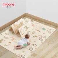 曼龙爬行垫婴儿童XPE宝宝爬行垫加厚客厅家用便携可折叠泡沫地垫195*148*1cm