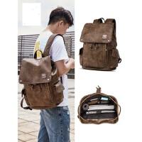 男士旅行包青年学生书包 时尚潮流背包男双肩包新款男士 电脑包包潮