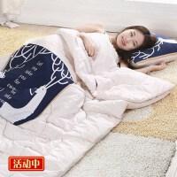 抱枕被子两用棉质毯子睡眠车内带被子的抱枕两用沙发二合一