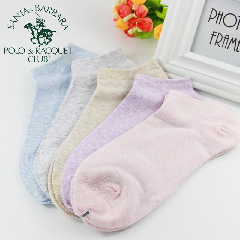 圣大保罗女士纯棉浅口透气可爱糖果色低帮薄款隐形短袜学院风新款