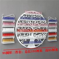 指甲油架子美甲展示架甲油胶陈列货架化妆品架展示柜壁挂展架铁艺 95圆