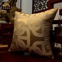 新中式红木沙发坐垫 靠垫抱枕套 圈椅垫 罗汉床垫海绵 实木沙发垫