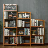 简易楠竹书架置物架实木多层落地宿舍儿童书架学生书柜储物架