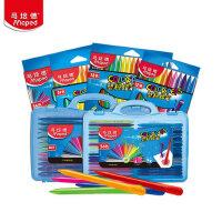 马培德塑料蜡笔24色36色48色蜡笔 儿童绘画笔蜡笔套装幼儿安全蜡笔涂色彩色蜡笔