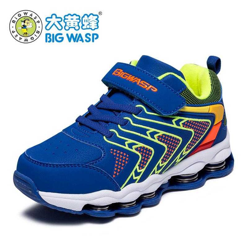 大黄蜂男童鞋 冬季新款儿童运动鞋男孩弹簧鞋 学生鞋子6-12岁波鞋运动减震 休闲保暖 防水防滑