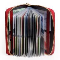 Yvongo韵歌 牛皮多卡位大容量拉链卡包女卡片包女士女款 卡夹卡套真皮名片夹名片本银行卡包*包