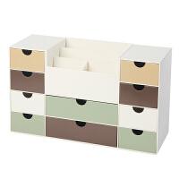 家居生活用品桌面抽屉式办公用品整理盒 化妆品首饰品塑料文具收纳盒