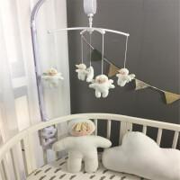 ?婴儿床铃玩具 新生儿音乐旋转床铃布艺毛绒床挂八音盒风铃摇铃?