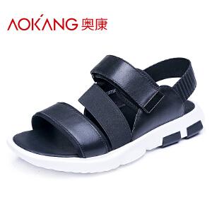 奥康男鞋夏季新款运动休闲防滑透气沙滩鞋