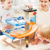 旋转停车场 儿童玩具男孩轨道车汽车套装组合早教益智玩具生日礼物