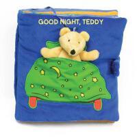 【现货】英文原版 Good Night, Teddy 晚安,泰迪!0-3岁幼儿布书 安全面料 耐撕咬可水洗
