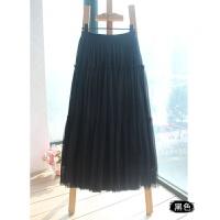 新款 修身蓬蓬网纱半身长裙