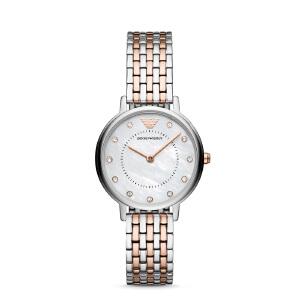阿玛尼(Emporio Armani)手表 时尚钢带镶钻气质石英女士腕表 AR11094