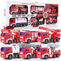 儿童可喷水套装男孩救援员大号救护小汽车各类工程惯性消防车玩具