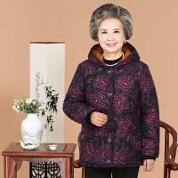 中老年人女装棉衣老人冬装奶奶装加厚老太太外套50-60岁妈妈装70 06款 红牡丹