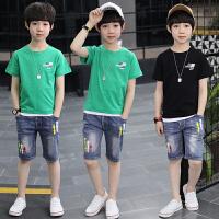 男童夏装新款套装 夏季童装儿童中大童衣服潮短袖