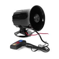 新款汽车摩托车警报喇叭12V/30W高音三音警报器三音警报器摩托车扩音器喇叭