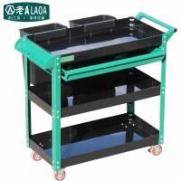 老A(LAOA)多功能塑料工具车 四层维修推车带塑料桶 LA115004