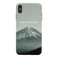 ins富士山苹果xr冷淡风xsmax手机壳iPhone7/8plus硅胶6sp简约风景