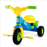 儿童三轮车1-3岁小孩脚踏车童车宝宝学步手推车自行车带储物篮子5ln