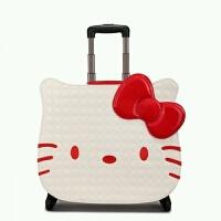 儿童拉杆箱 小行李箱18寸卡通旅行箱可爱学生皮箱万向轮 白色现货送锁送防尘袋 现货发售 18寸