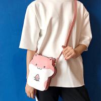 韩国韩版日系软妹可爱动物玩味表情小仓鼠斜挎包包单肩包女包