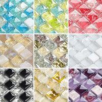 玻璃马赛克镜面水晶瓷砖背景墙拼花卫生间墙贴背景墙砖游泳池KTV m3n