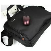 笔记本电脑包男女商务单肩包4 5.6寸包鼠标套装加厚