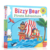 英文原版 Bizzy Bear: Pirate Adventure! Board Book忙碌的小熊系列.海盗冒险 低
