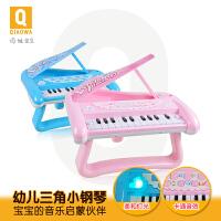 俏娃儿童电子琴玩具宝宝小孩多功能小钢琴带灯光女孩a301