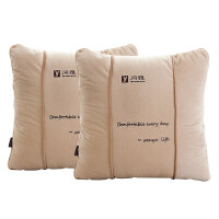 汽�抱枕被子�捎每�|��瓤空碥�上折�B午休空�{被��d被子一�ρb 一�ρb(2��) 中�(合起38*38cm打�_100