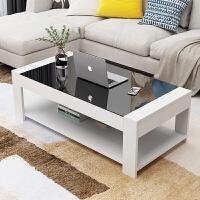 钢化玻璃茶几长方形简约经济型客厅组装简易创意现代小户型