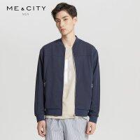 MECITY男装夏季韩版轻薄针织棒球领夹克外套