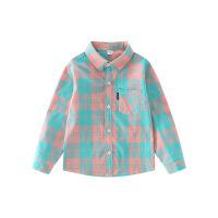 【券后价:32.9】男童衬衫2021春装新款儿童衬衣长袖春秋中大童格子衫韩版洋气上衣